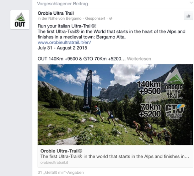 Orobie Ultra Trail auf Facebook